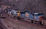 CSX  SD70MAC #4729 and CSX AC44CW will take a hard right at the junction switch with the Lineville Subdivision and head for Atlanta on the Manchester Subdivision 